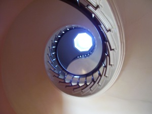 3-story Spiral Staircase at the Lanier Mansion--there's an octagonal skylight at the top!